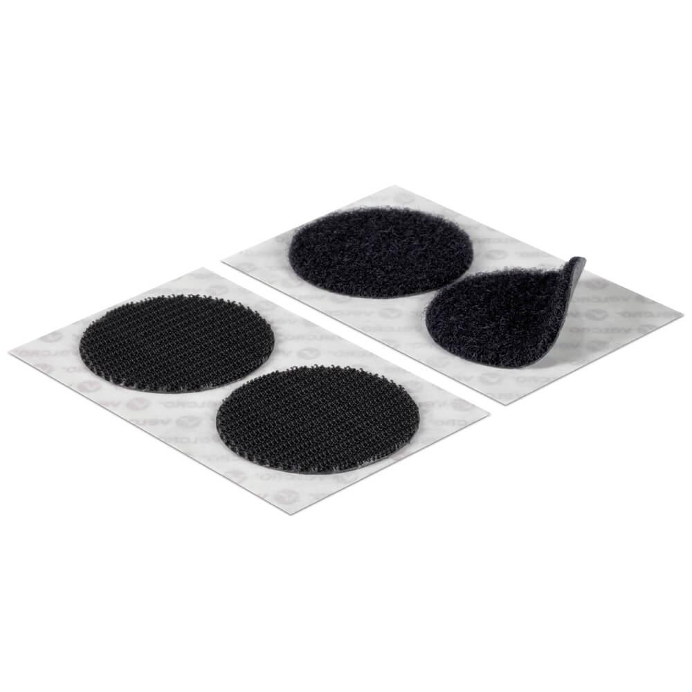 Velcro 174 Brand 45mm Black Stick On Coins Vel Ec60248