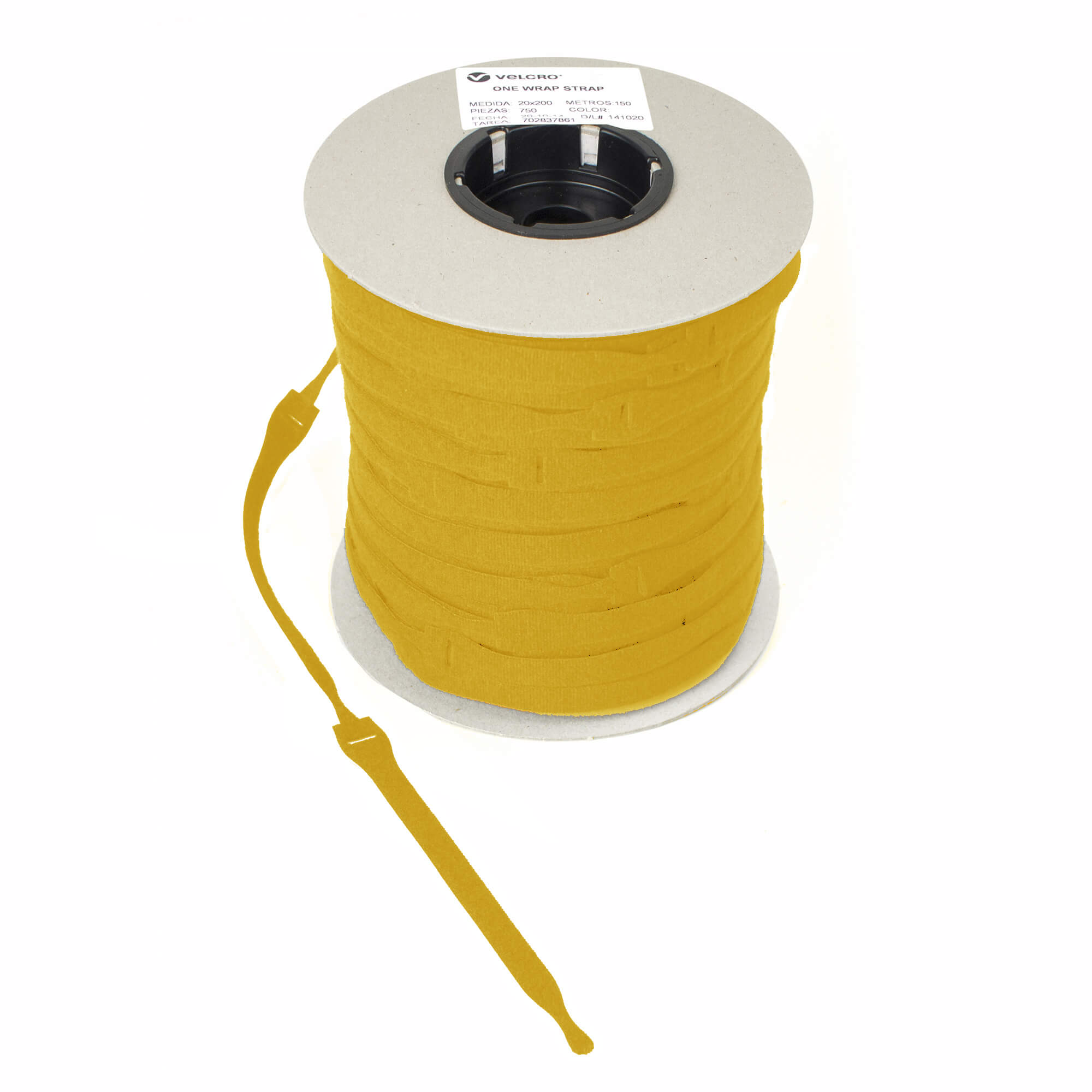 VELCRO brand Hook /& loop back to back strapping ONE-WRAP 13mm  x 1 metre orange