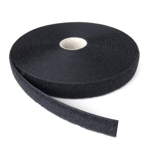 20mm Alfatex® Flame Retardant Anti Static Loop 25m Roll - Black