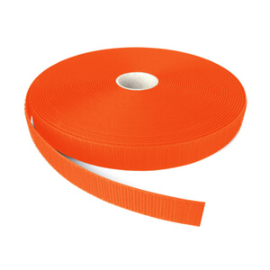 Alfatex® 25mm Fluo Orange Sew On HOOK Tape 25m