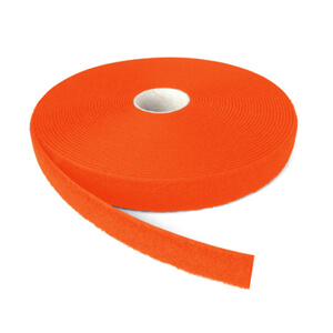 Alfatex® 25mm Fluo Orange Sew On LOOP Tape 25m