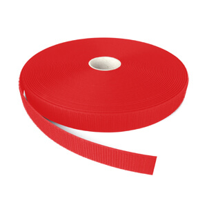 Alfatex® 25mm Red Sew On HOOK Tape 25m