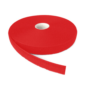 Alfatex® 25mm Red Sew On LOOP Tape 25m