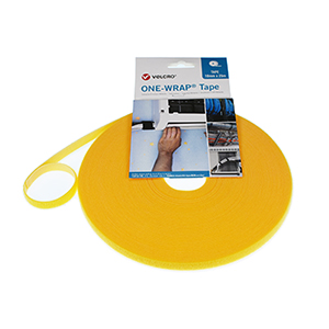 VELCRO® Brand ONE-WRAP® Strap 10mm x 25m Roll Yellow