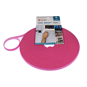 VELCRO® Brand ONE-WRAP® Strap 10mm x 25m Roll Pink