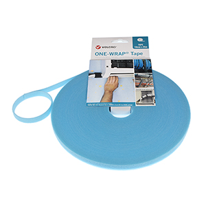 VELCRO® Brand ONE-WRAP® Strap 10mm x 25m Roll Aqua