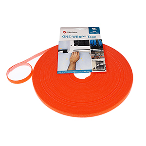 VELCRO® Brand ONE-WRAP® Strap 10mm x 25m Roll Orange